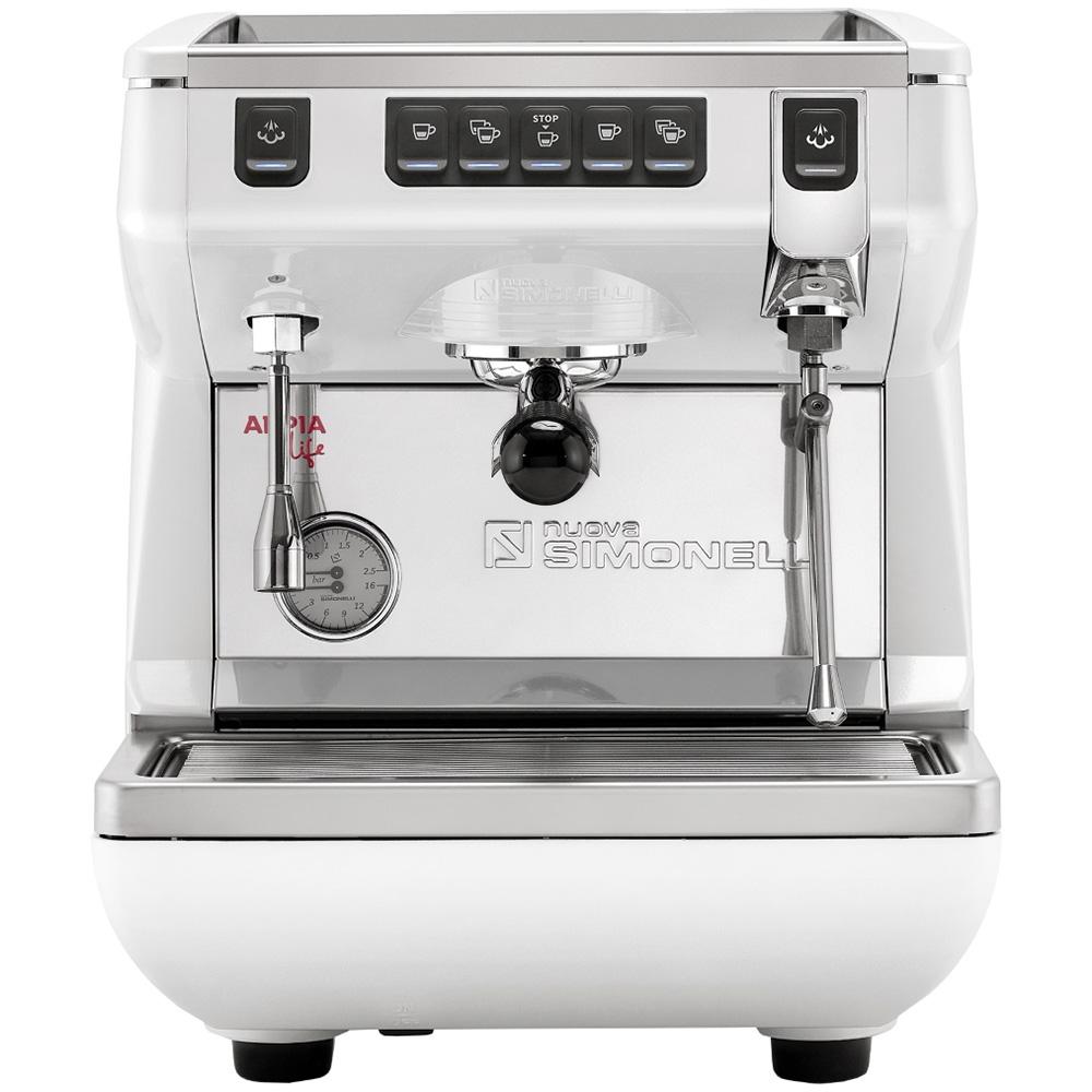Кофемашина NUOVA SIMONELLI Appia Life 1Gr V 220V white цвет белый фото вид спереди