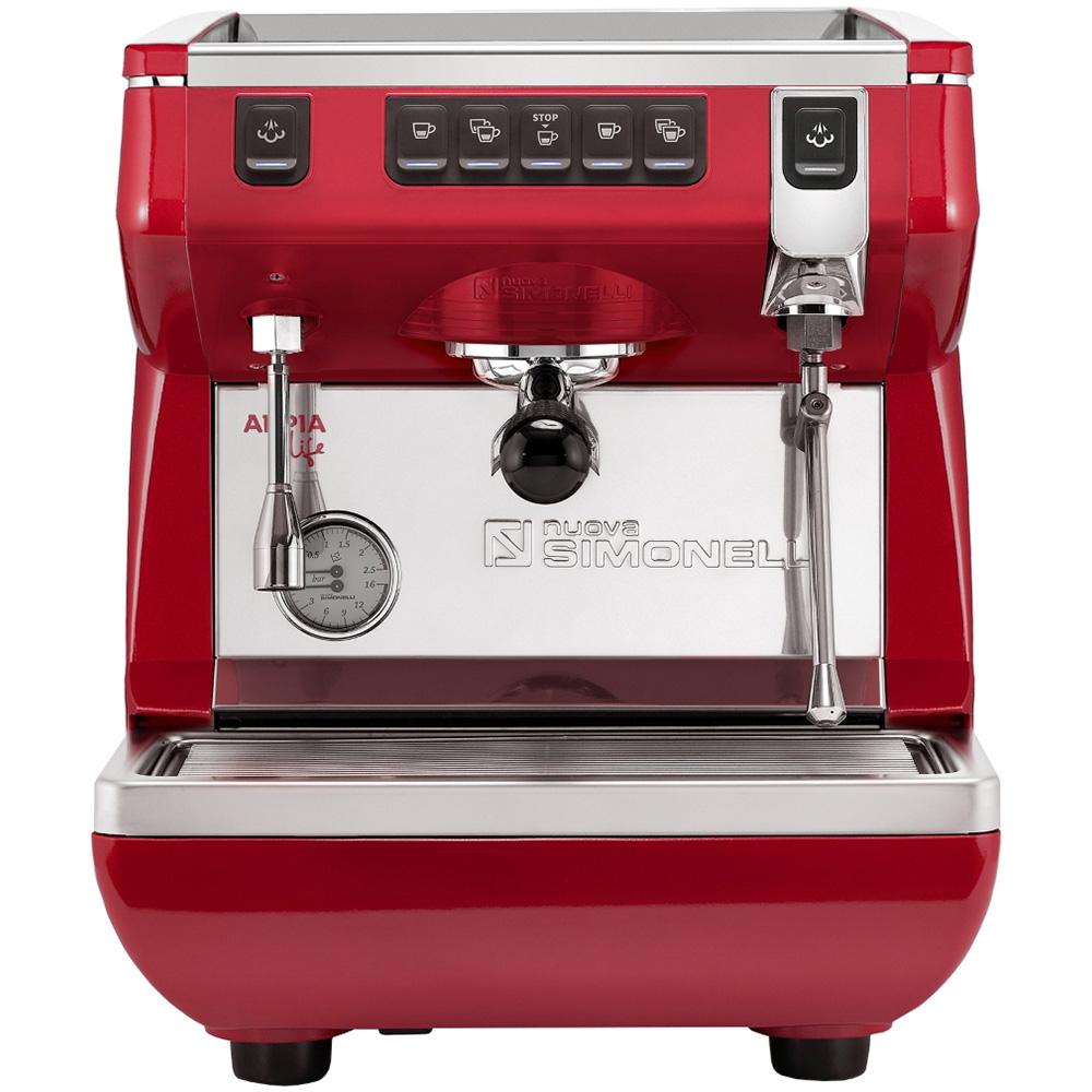 Кофемашина NUOVA SIMONELLI Appia Life 1Gr V 220V red цвет красный фото вид спереди
