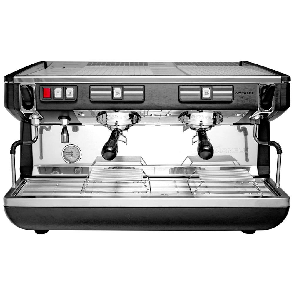 Фотография кофемашины NUOVA SIMONELLI Appia Life 2Gr S 220V Black. Вид спереди