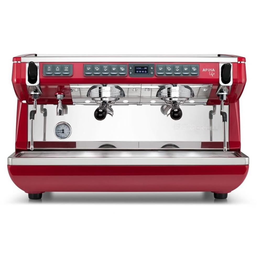 Фотография кофемашины NUOVA SIMONELLI Appia Life 2Gr S 220V Red. Вид спереди