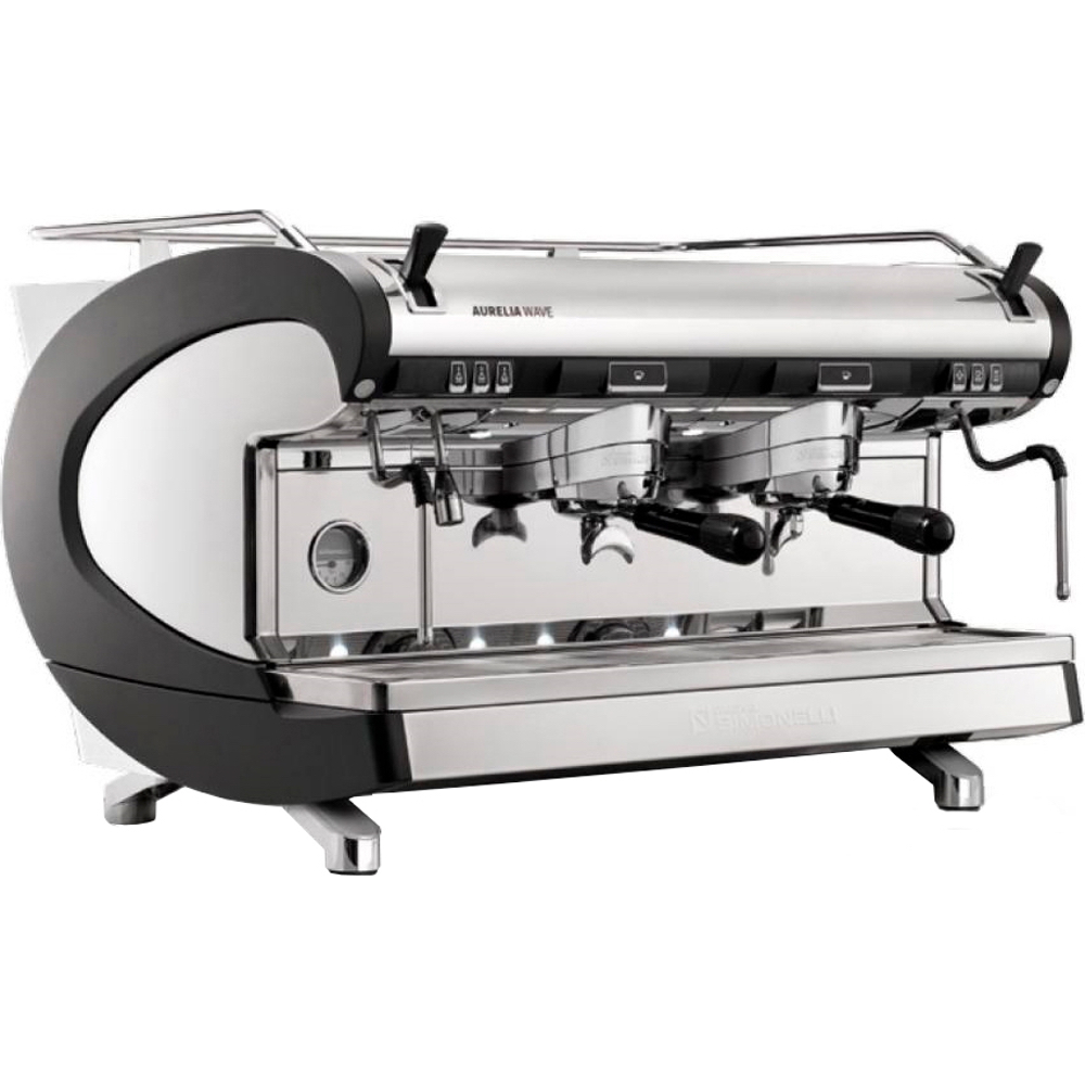 Кофемашина NUOVA SIMONELLI Aurelia Wave Sem pearl black 2gr + high gr + LED главное фото