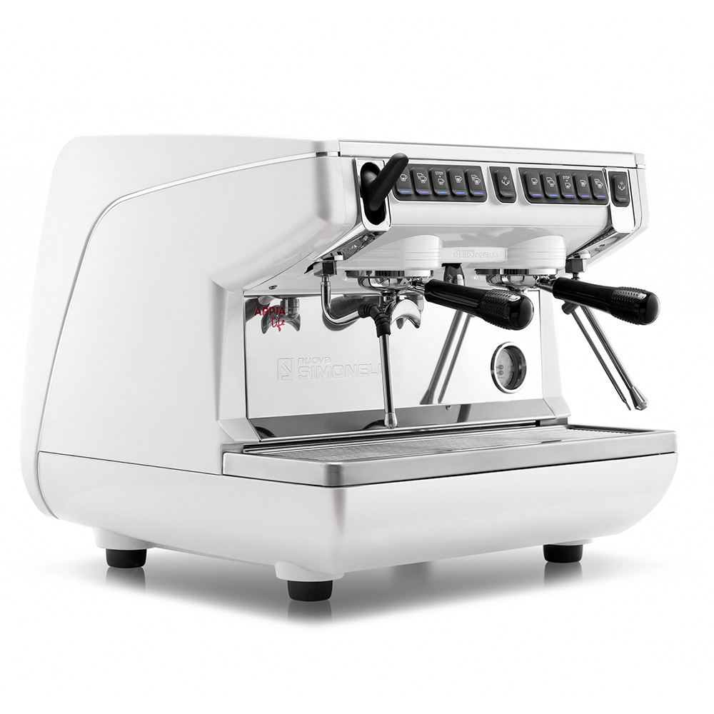 Фотография кофемашины NUOVA SIMONELLI Appia Life 2Gr S 220V white+economizer+high groups. Вид спереди