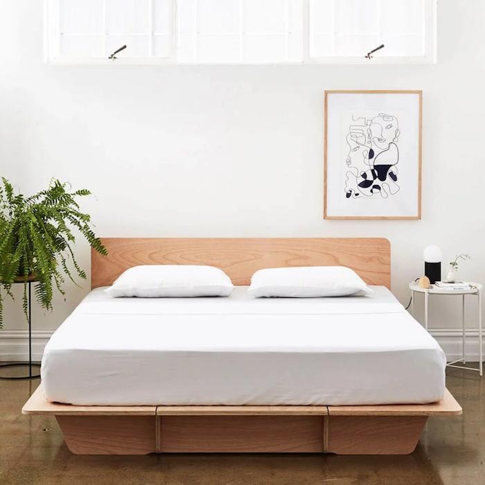 Koala timber bed base in bedroom