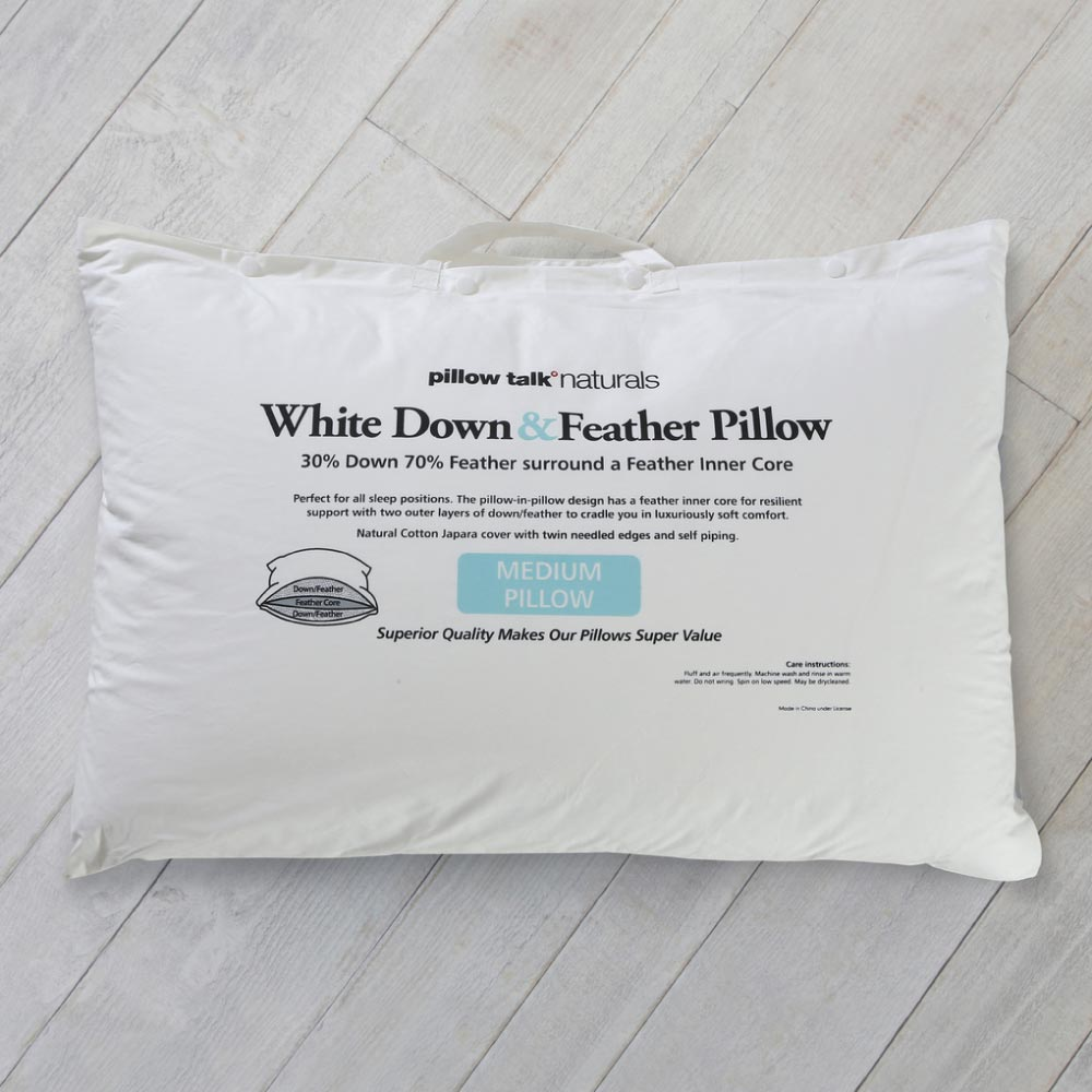 Pillow Talk Naturals 30% White Duck Down