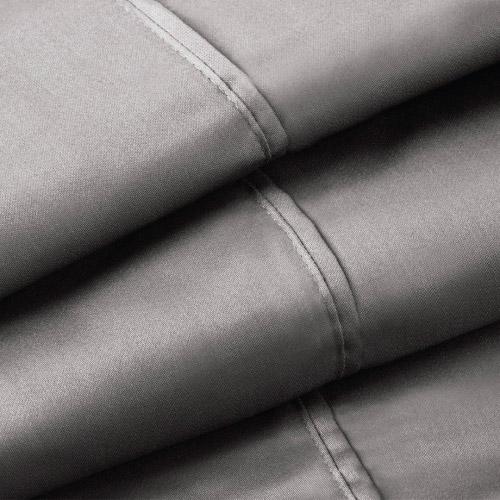 Close up image of Daniel Brighton sheet set in Charcoal
