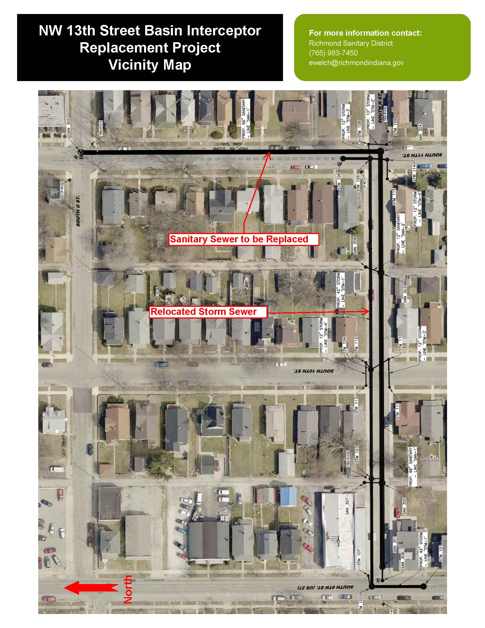 NW 13th Street Basin Interceptor Replacement Project Vicinity Map