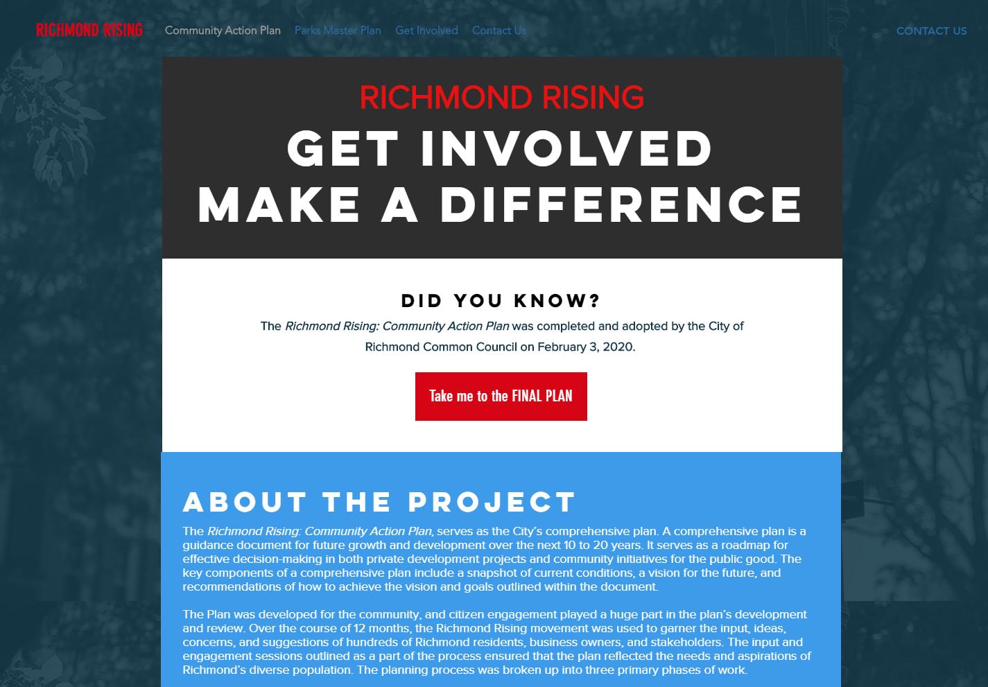Richmond Rising Website