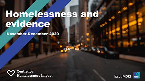Ipsos MORI survey: homelessness and evidence 2020
