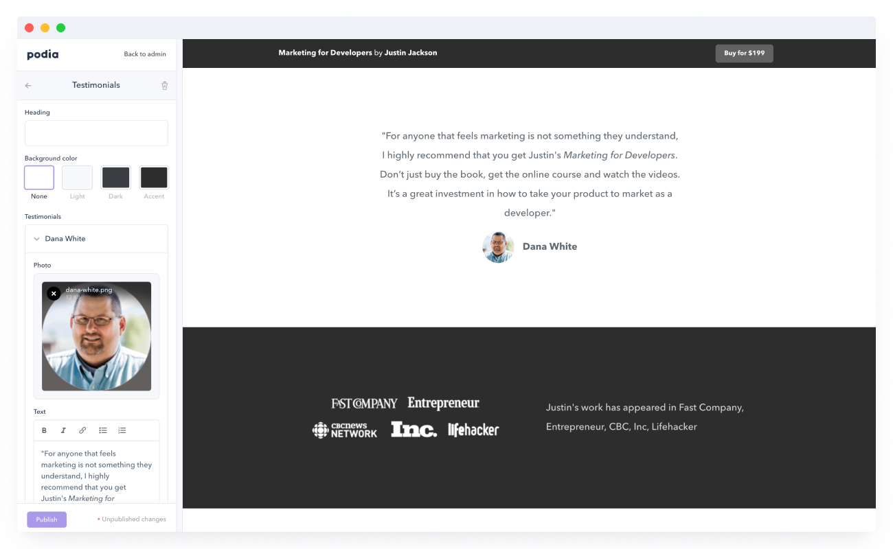 Sales Page Builder for Selling Digital Downloads, Memberships & Courses