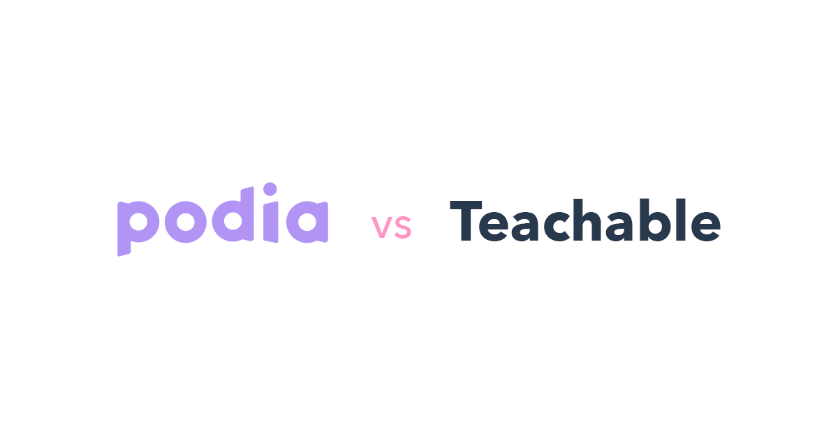 Podia vs Teachable