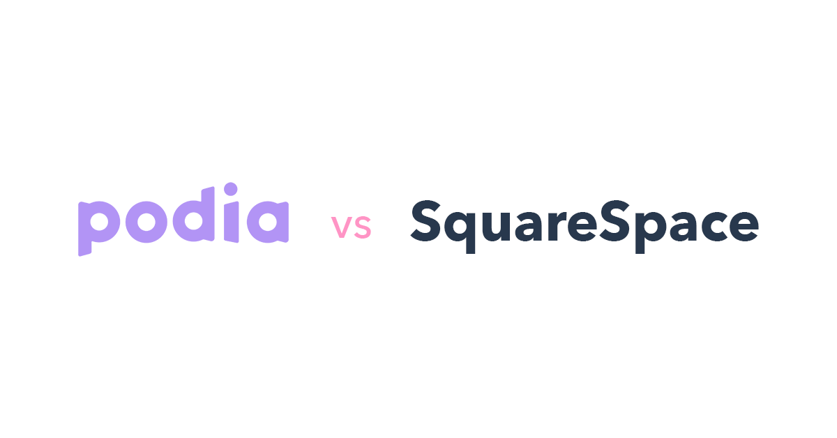 Podia vs Squarespace