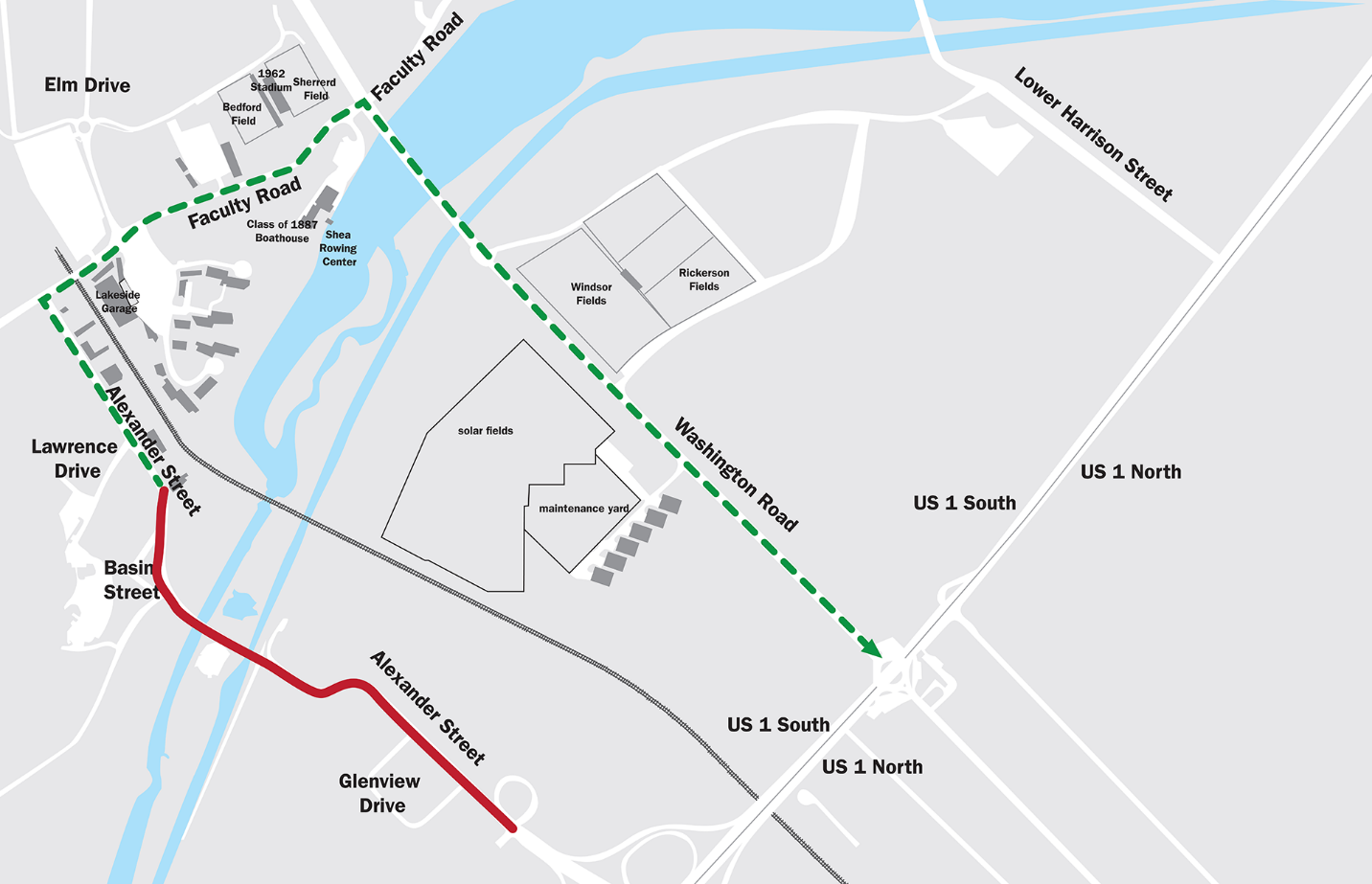 Alexander St bridge closure detour route