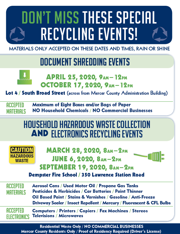 MCIA Recycling events list