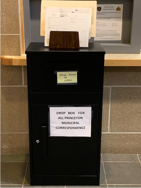 drop box for documents in lobby