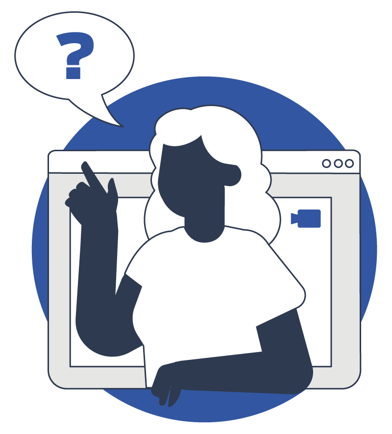 illustration of a dev with a question