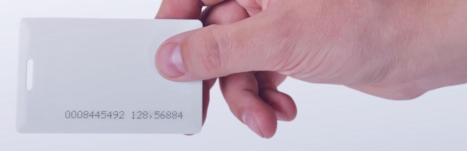 Man holding a keycard