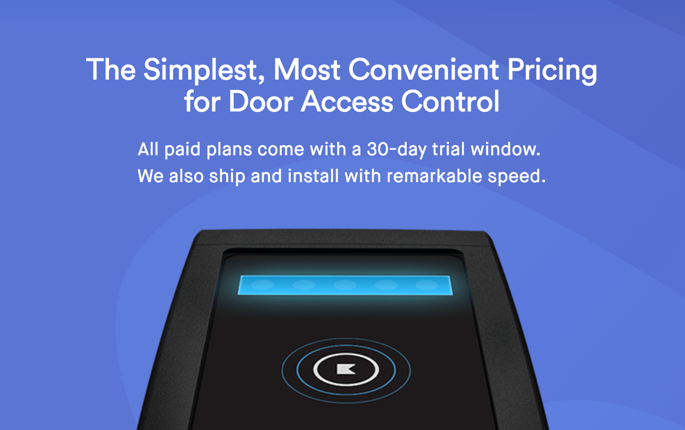 Access Control Systems Costs & Price per Door | Kisi