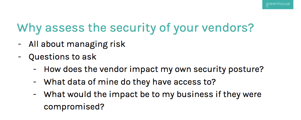 vendor security assessment slide