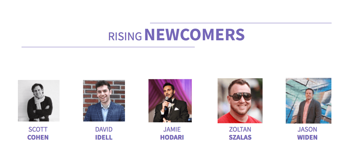 Rising Newcomers Coworking Influencers 2018