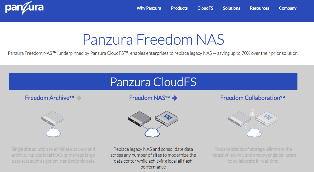 panzura freedom NAS