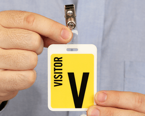Example of a Visitor Badge