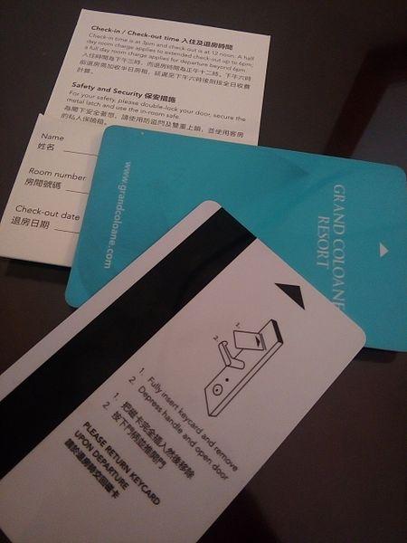 Mag Stripe Hotel Keycard
