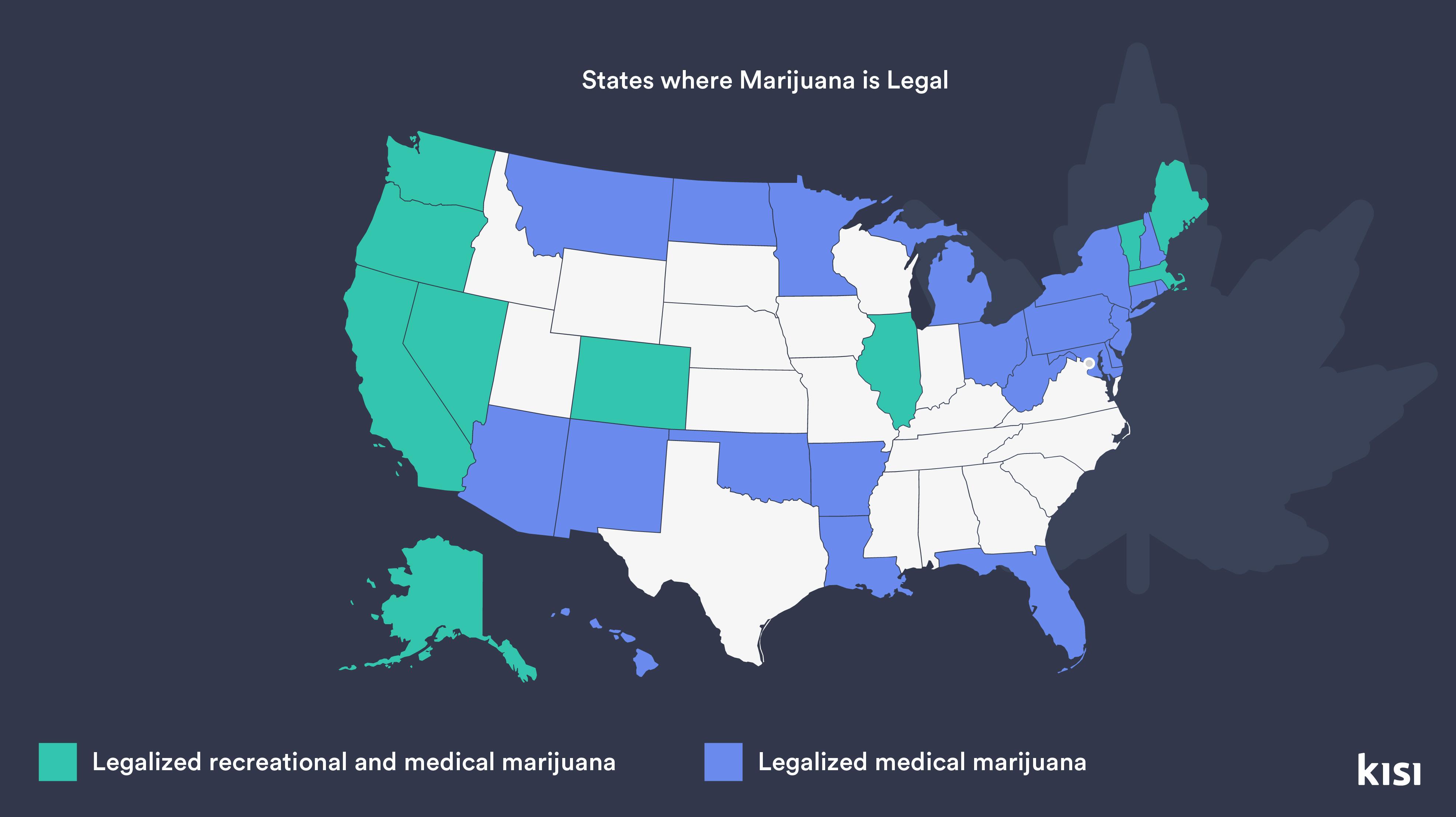 states where marijuana is legal