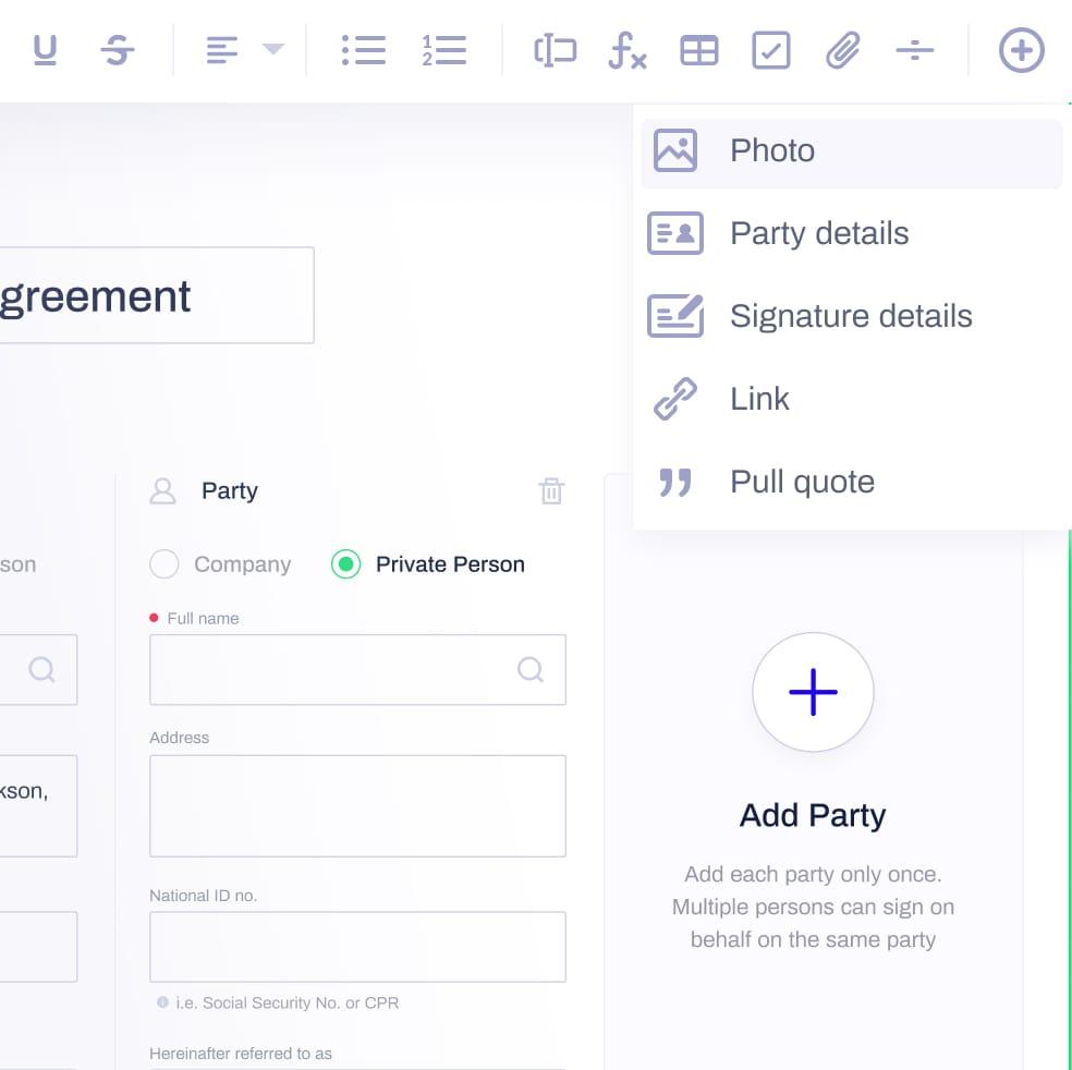 Advanced editor screenshot
