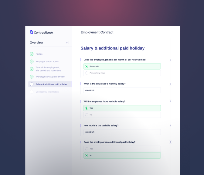 contract automation - contractbook screenshot
