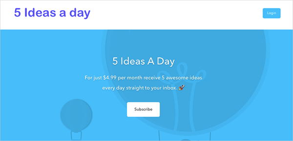 5 Ideas a Day Community