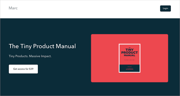 The Tiny Product Manual