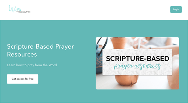 Scripture-Based Prayer Resources