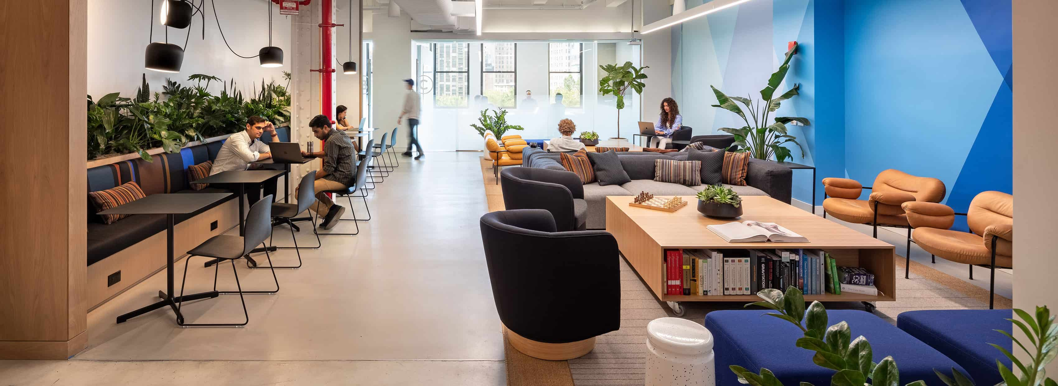 The sitting area of Butterfly Network HQ in NYC