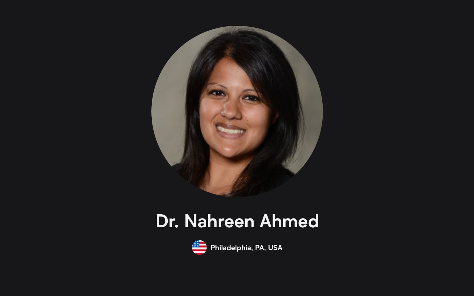 Image of Dr Nahreen Ahmed