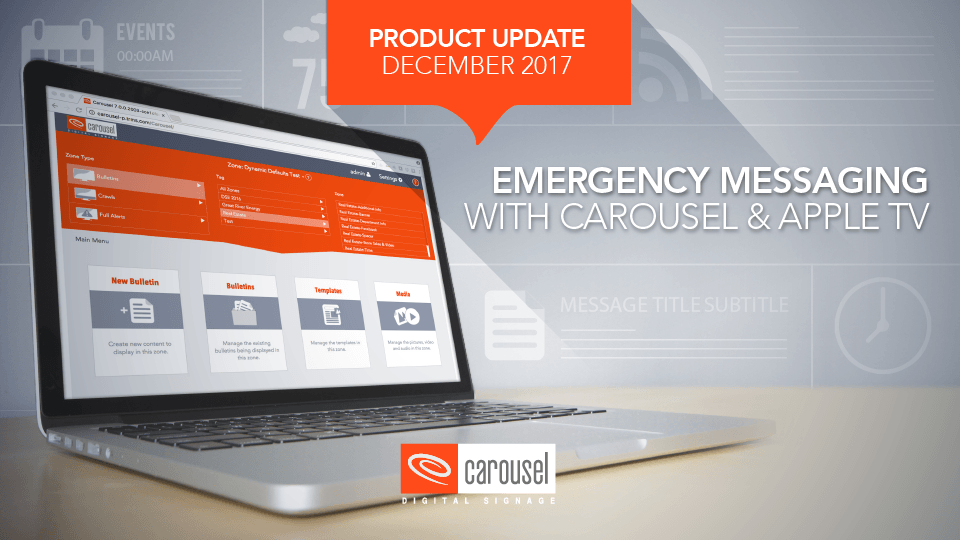 Carousel Digital Signage - Videos : Emergency Messaging with
