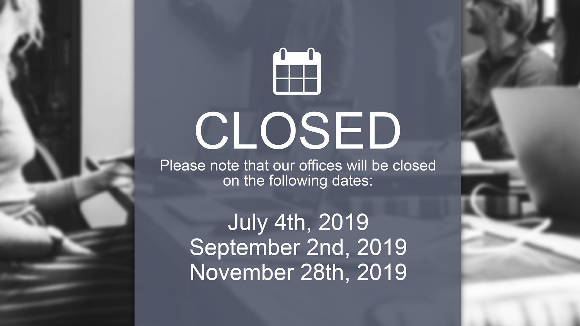 Carousel Digital Signage - Office Closures
