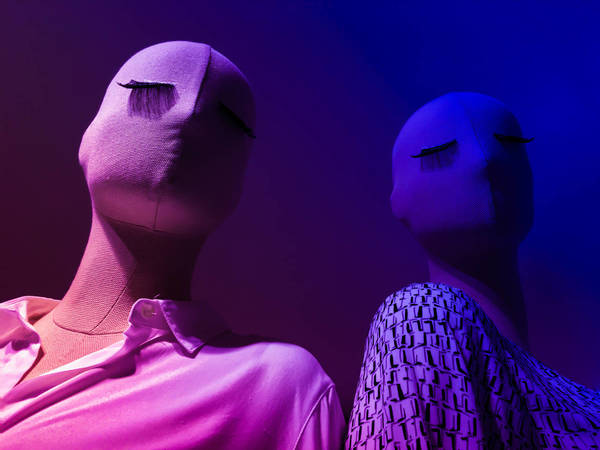 Low Angle View Of Mannequin In Illuminated Room