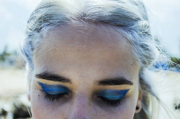 Close-Up Of Woman With Eye Make-Up