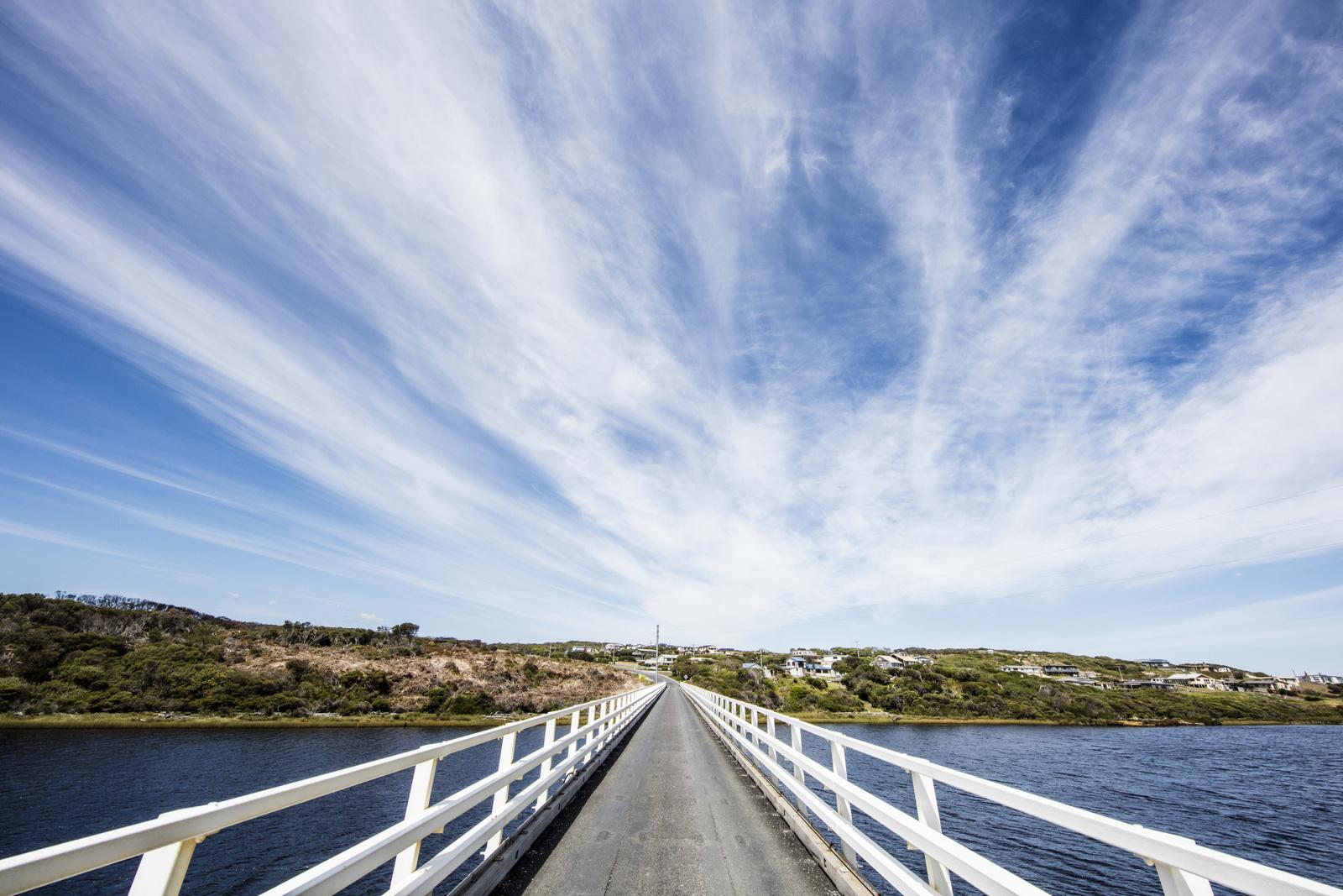 Crossing the Arthur River Bridge