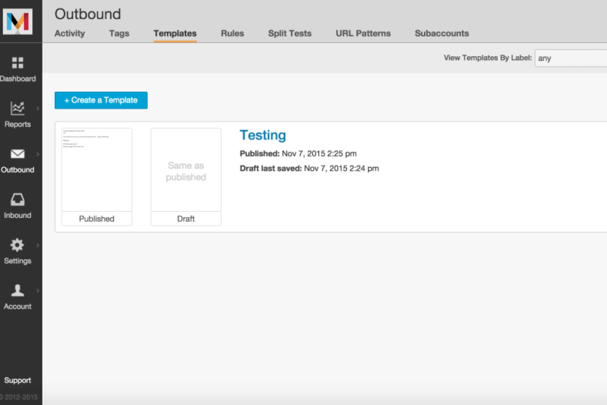 Mandrill email testing