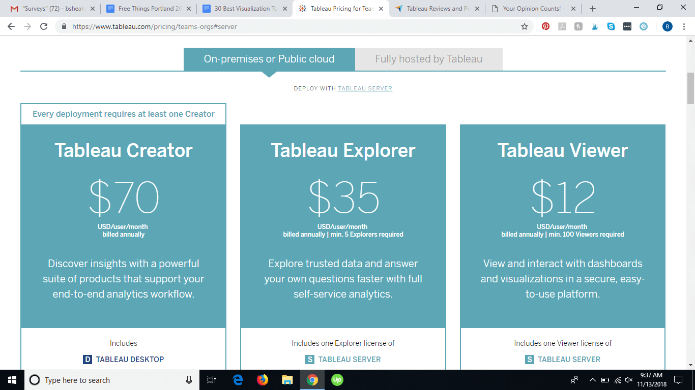 Tableau pricing 1