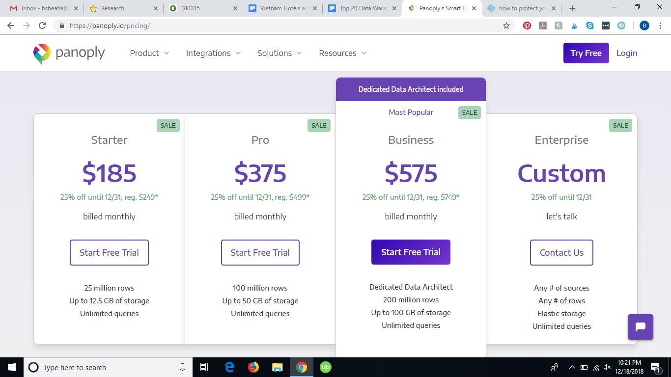 Panoply pricing