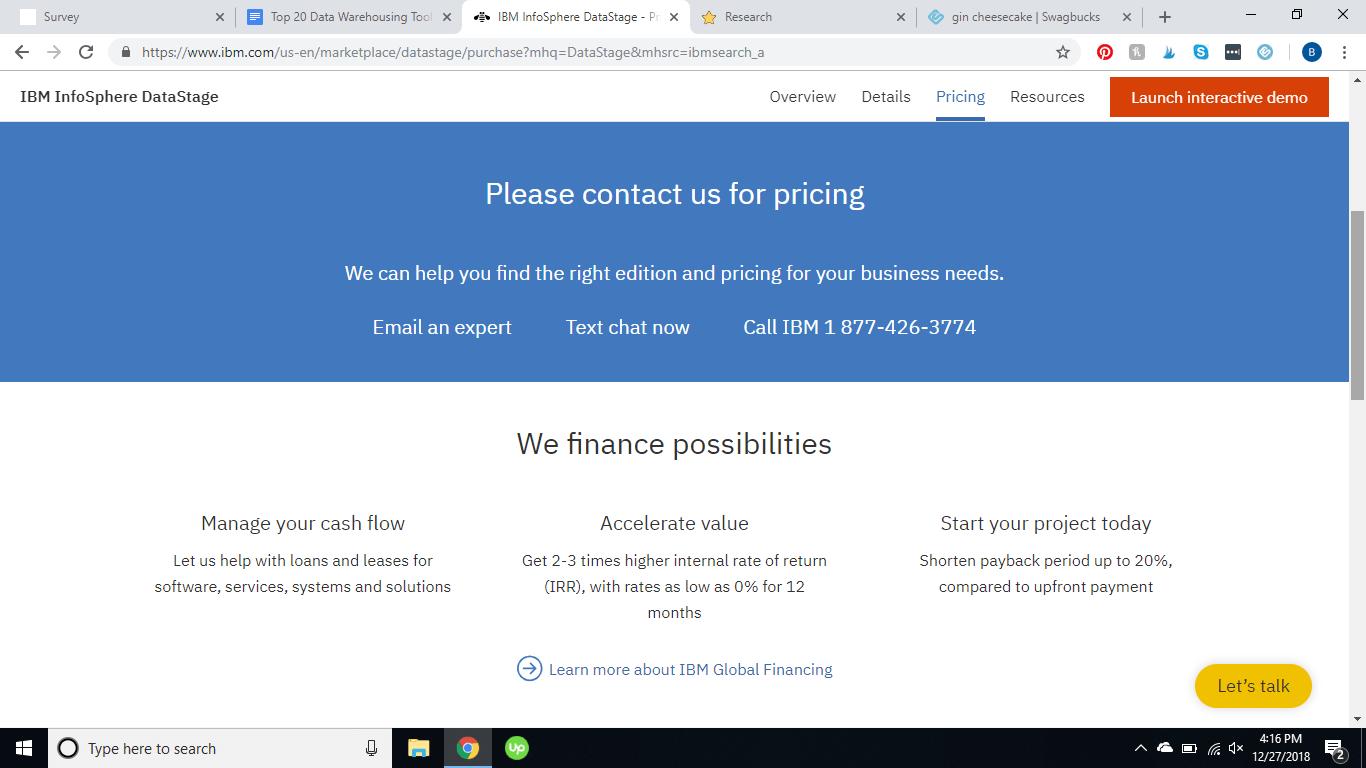 IBM Datastage pricing