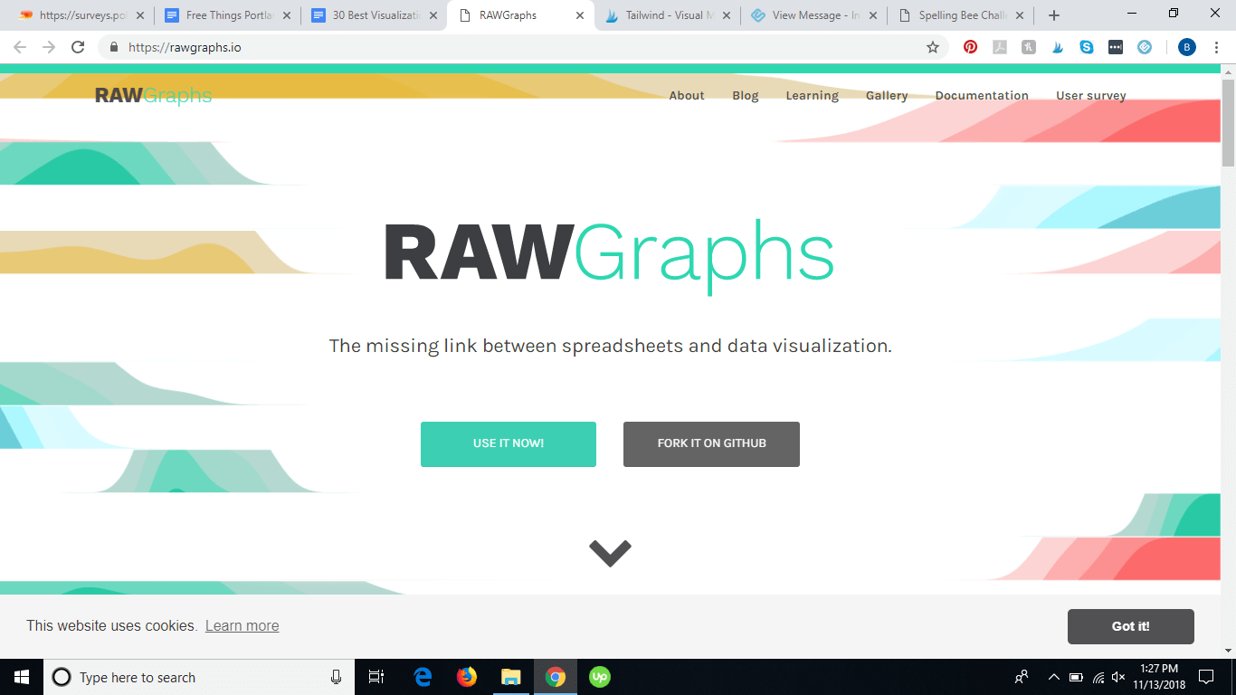 RawGraphs website