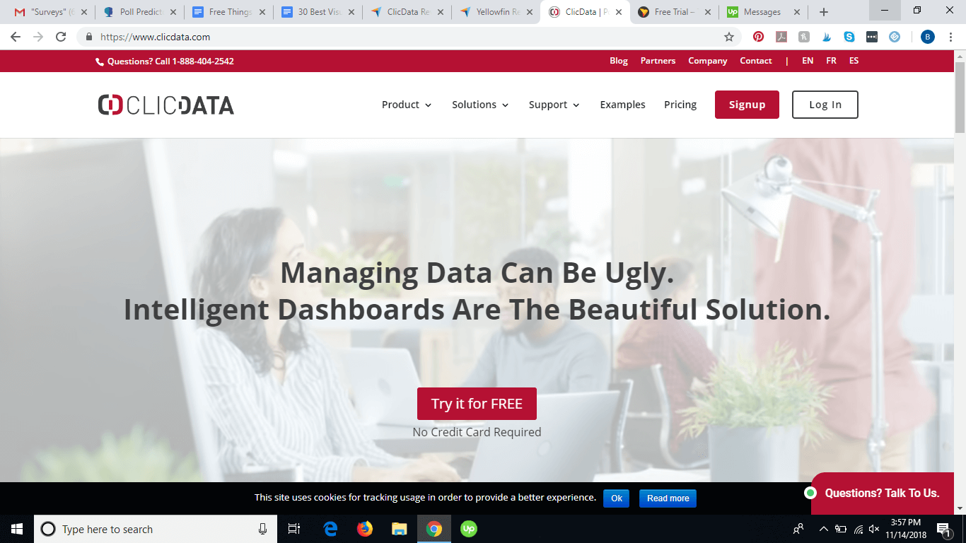 Clicdata website