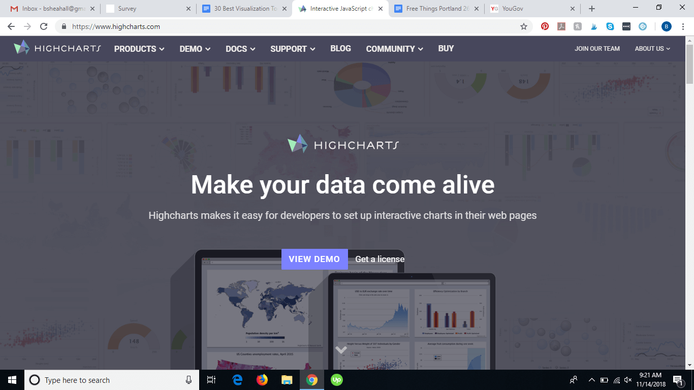 HighCharts website