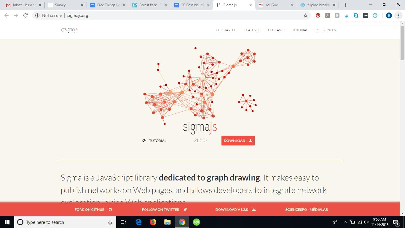 Sigma JS homepage