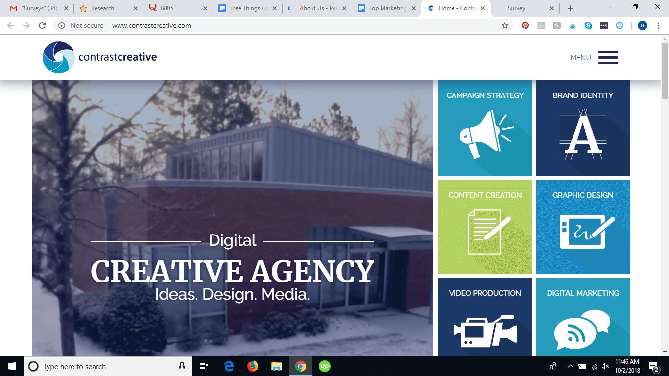 Contrast Creative website