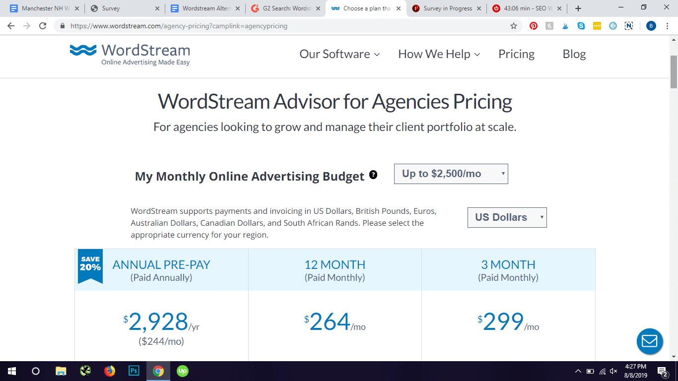 wordstream pricing