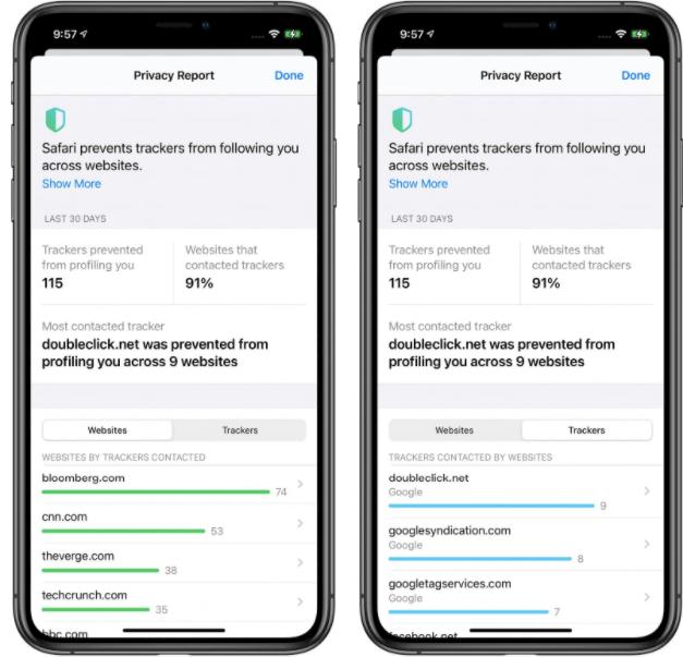 Screenshot from Safari iOS